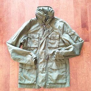 New J crew mechanic jacket size S olive green